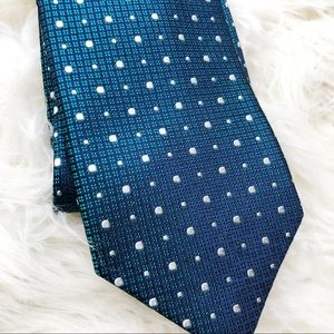 NWOT STAFFORD blue/green men's tie